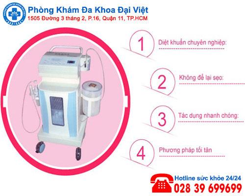 Chữa viêm âm đạo hiệu quả bằng Oxygen - Phòng Khám Đa Khoa Đại Việt