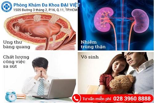 tác hại của viêm tuyến tiền liệt