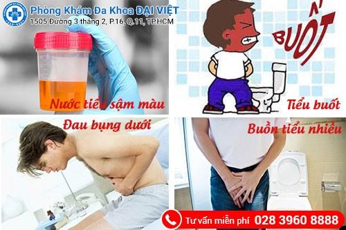 triệu chứng viêm đường tiểu ở nam