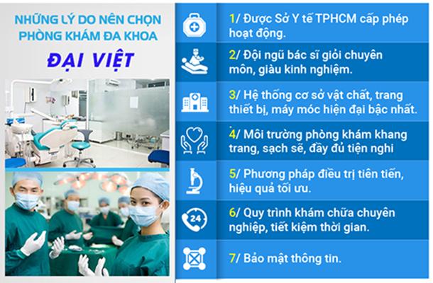 Ưu điểm của Phòng Khám Đa Khoa Đại Việt.