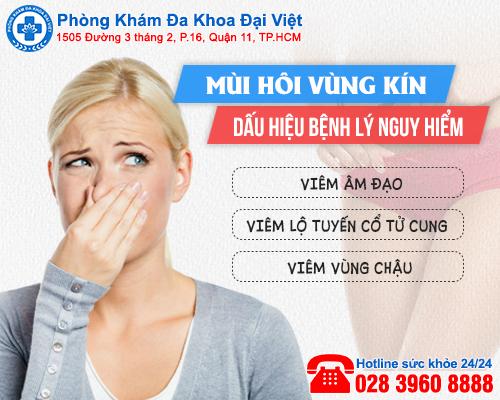 Bệnh phụ khoa gây mùi vùng kín - Phòng Khám Đa Khoa Đại Việt
